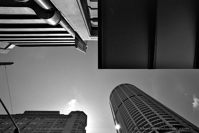 "Black and white architecture shot from Sydney, Australia. Part of the ""Quadrants"" photo series by Marcel S. Pawlowski."